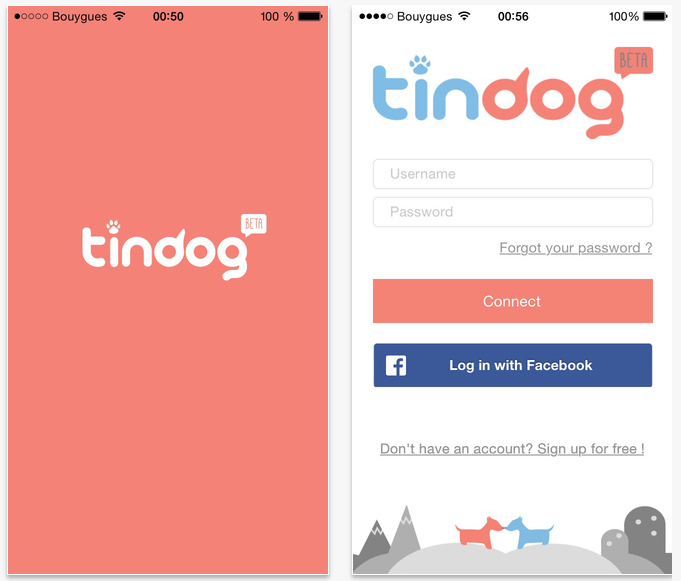 App Download Userface for Tindog